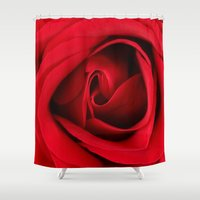 card Shower Curtains featuring GREETING CARD by mark ashkenazi