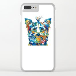 Colorful Yorkie Dog Art - Yorkshire Terrier - By Sharon Cummings Clear iPhone Case