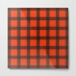 Classic Red Plaid Metal Print