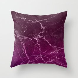 Abstract burgundy white gradient marble Throw Pillow