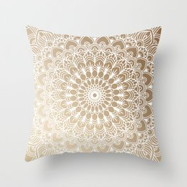 Gold Mandala 19 Throw Pillow