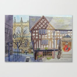 Shambles Square Canvas Print