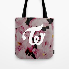 twice floral Tote Bag