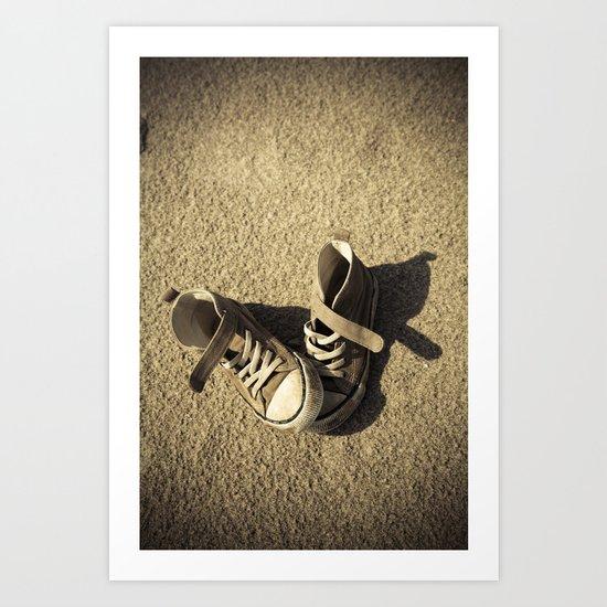 Lost shoes Art Print