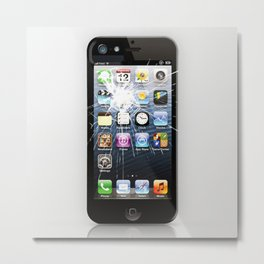 iPhone5 Broken Metal Print