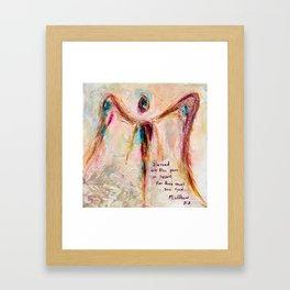 With Honesty Framed Art Print
