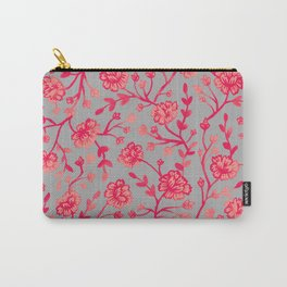 Watercolor Peonies - Coral Carry-All Pouch