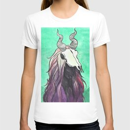 witch with kudu skull T-shirt