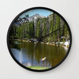 Dreamy View Of Nymph Lake Wall Clock
