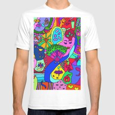 Abstract 27 Mens Fitted Tee White MEDIUM