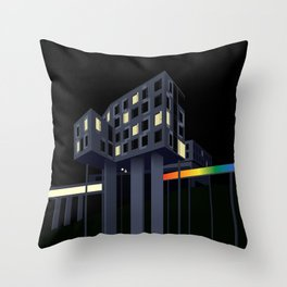 Carnegie Mellon's Gates Hillman Computer Science Center Throw Pillow