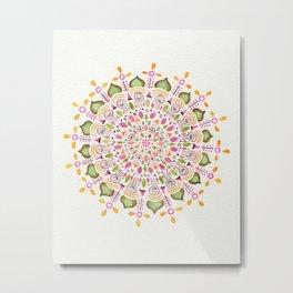 Bindi Mandala Metal Print