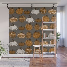 Pumpkin Party in Nougat Wall Mural