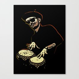 Bongo Beatin' Beatnik Canvas Print