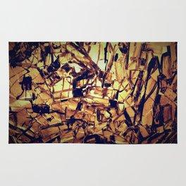 cracked glass Rug