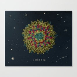 3. I think I'm in love Canvas Print