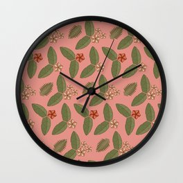 Polygn Floral ( Pink ) Wall Clock