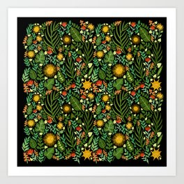 Sunshine Botanical - Dark Version Art Print