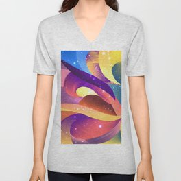 Pastel Sparkle Abstract Unisex V-Neck