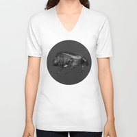 beetle V-neck T-shirts featuring Beetle by Lauren Rakes