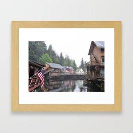 Creek Street, Ketchikan, AK Framed Art Print