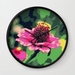 Autumn power flower Wall Clock