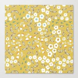 Ditsy Mustard Canvas Print