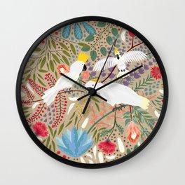 Cockatoo Envy Wall Clock