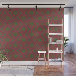 Scrolled Ringed Ikat – Pesto Jazzy Wall Mural