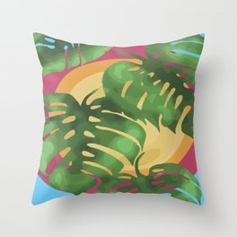 Tropical splendour Throw Pillow