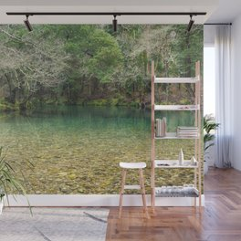 Tranquility in the emerald river Wall Mural
