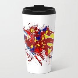 superman flaying red Travel Mug