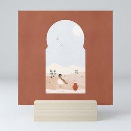 window view Mini Art Print