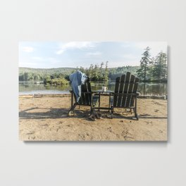 Adirondack Chairs Metal Print
