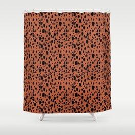 Earth Cheetah Animal Print Shower Curtain