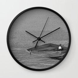 Boat sinking Wall Clock