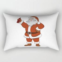Santa's Drink Rectangular Pillow