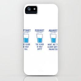 Optimist Pessimist Aquarist Aquarium Fish Tank Gift design iPhone Case