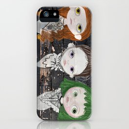 3 Ghost Girls - haunting vintage sign iPhone Case