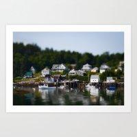 Tiny Maine Town Art Print