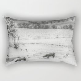 Winter in the Country Rectangular Pillow