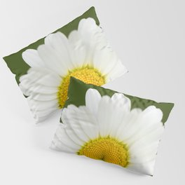 Beautiful Daisy Natural Green Background #decor #society6 #buyart Pillow Sham