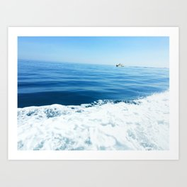 Sailing on the Pacific Ocean Art Print