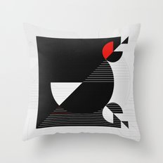 Black and white meets red Version 22 Throw Pillow