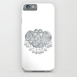 Watercolor Illustration of Chinese Miao traditional silver jewelry | 苗族银饰 iPhone Case