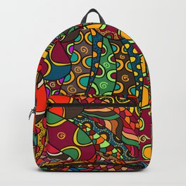 African Style No13, Tribal dance Backpack