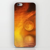 skyfall iPhone & iPod Skins featuring skyfall by LuMixaArt