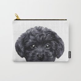Black toy poodle Carry-All Pouch