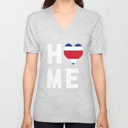 Costa Rica Is My Home Tee Unisex V-Neck
