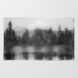 View of Mount Shasta Rug